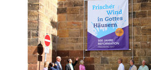 Banneraktion zum Reformationsjubiläum in Friedberg