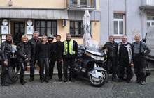 Motorradseelsorge on Luther-Tour